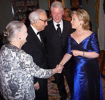 5- Hilary Clinton President Clinton geeting Iola  Dave